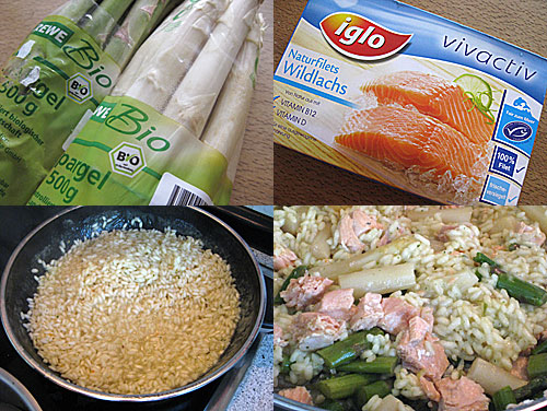 Spargel-Risotto mit Lachs