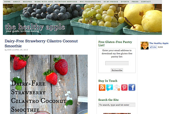 Website thehealthyapple