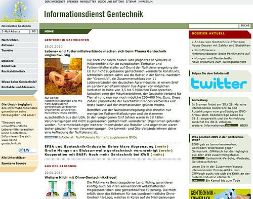 Website Ohne Gentechnik