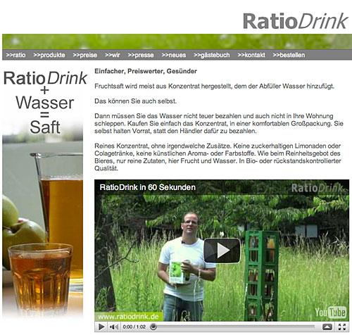 RatioDrink: Bio-Saftkonzentrate online bestellen