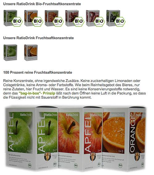 Apfel, Orange und einige Apfel-Kombinationen