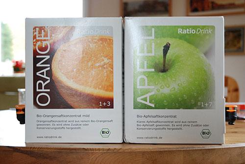 Getestet: Bio-Apfelsaft klar und Bio-Orangensaft mild