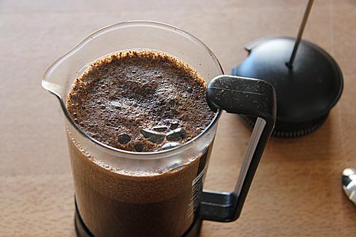 Bio-Kaffee aus der French Press