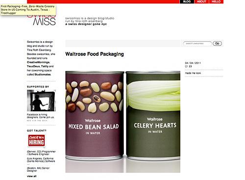 Verpackungen von Lebensmitteln