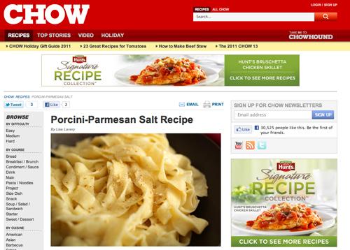 Rezept für Steinpilz-Parmesan-Salz