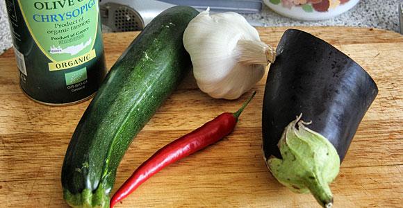 Mariniertes Gemüse: wenige Zutaten...