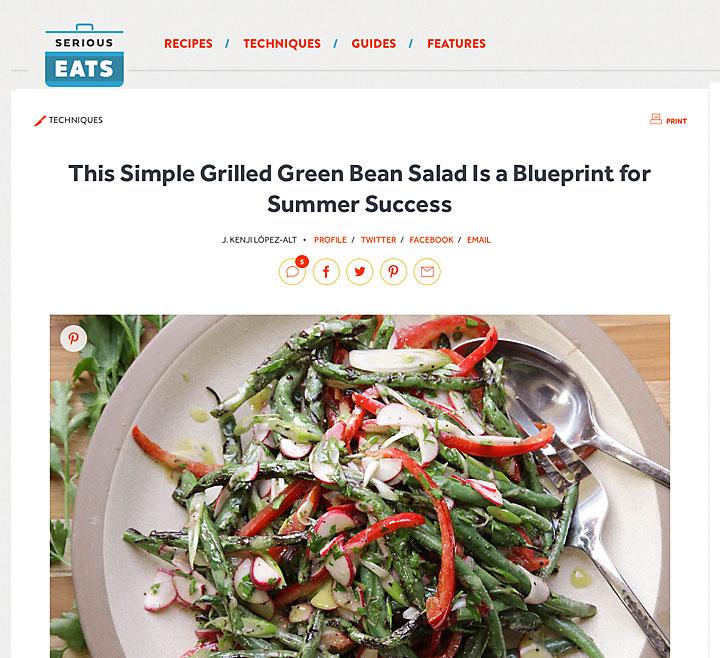 Salat mit gegrillten Bohnen