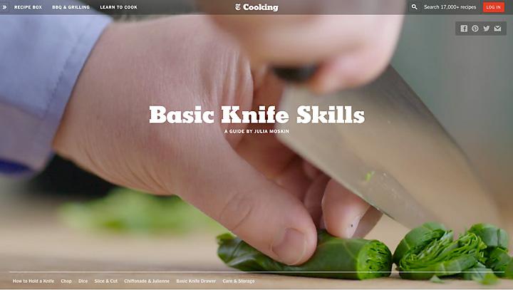 Grundlegende Messer-Techniken für die Küche