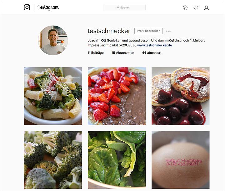 Der neue Instagram Account für testschmecker.de