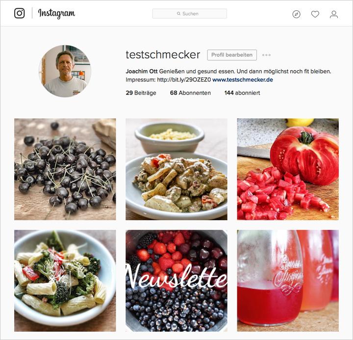 Der neue Instagram-Account des Testschmeckers kommt ganz gut an.