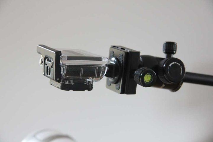 Kleiner, leichter: Für die GoPro ist der Mikrofonständer in jedem Fall ausreichend.