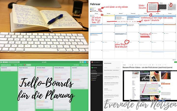 Planung auf Papier ist kein schlechter Anfang. Apps helfen Dir später, effektiver zu werden.