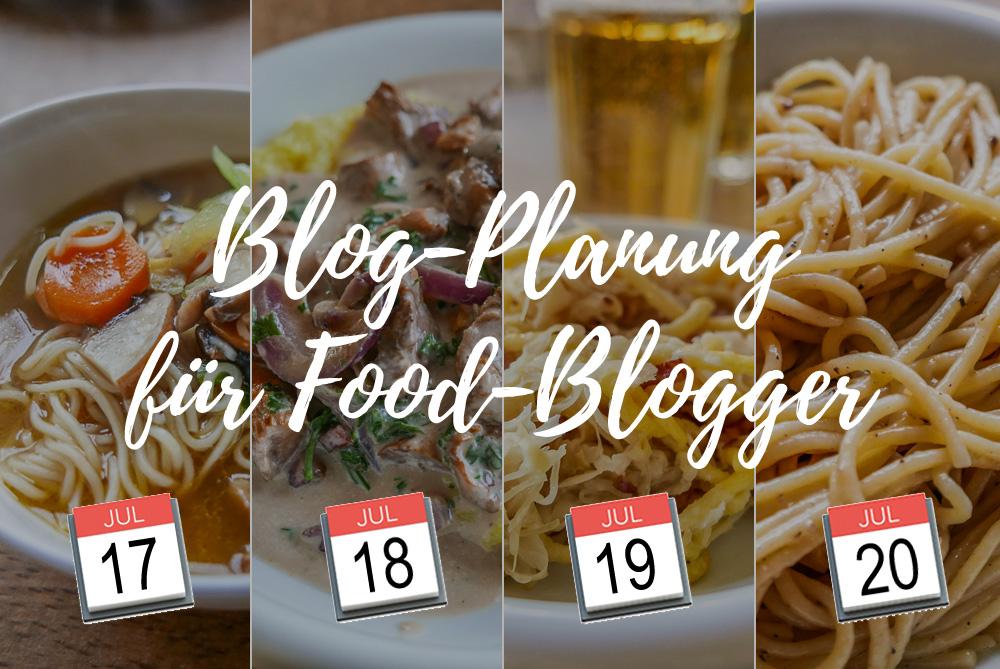 Blog-Planung spielt für Food-Blogs eine besonders wichtige Rolle.