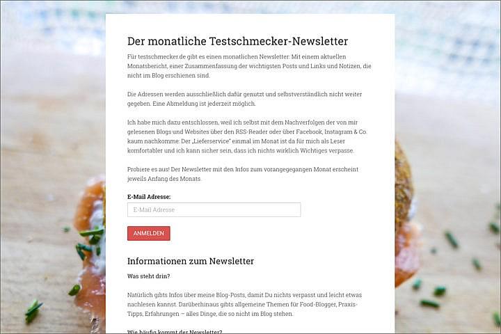 Eine Landingpage führt Deine Besucher zur Newsletter-Anmeldung.