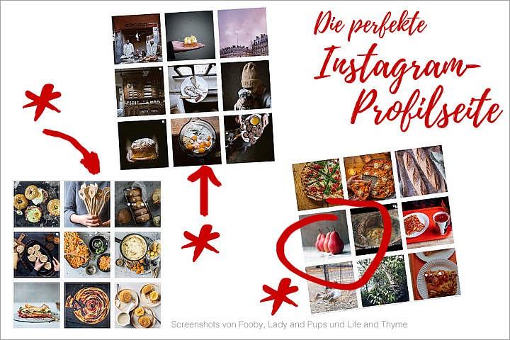Die perfekte Instagram Profilseite: Überprüfe das klassische 9er-Raster, das Deine Besucher sehen.