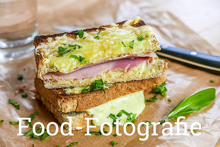 Sandwich Foto: Food Fotografie Croque Monsieur