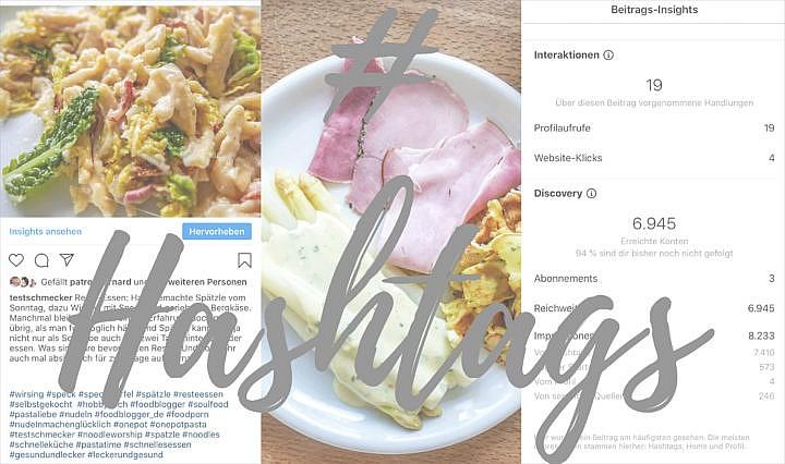 Hashtags: Sammeln und ein Konzept entwickelln, damit man die Möglichkeiten ausreizen kann.