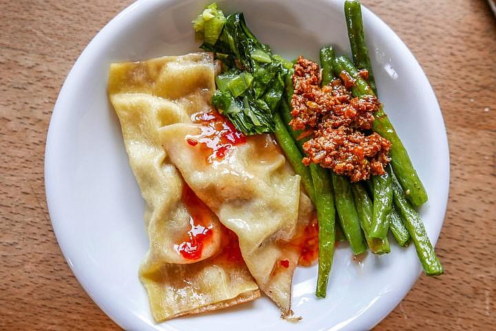 Asiatische Teigtaschen - scharf und schnell zubereitet.