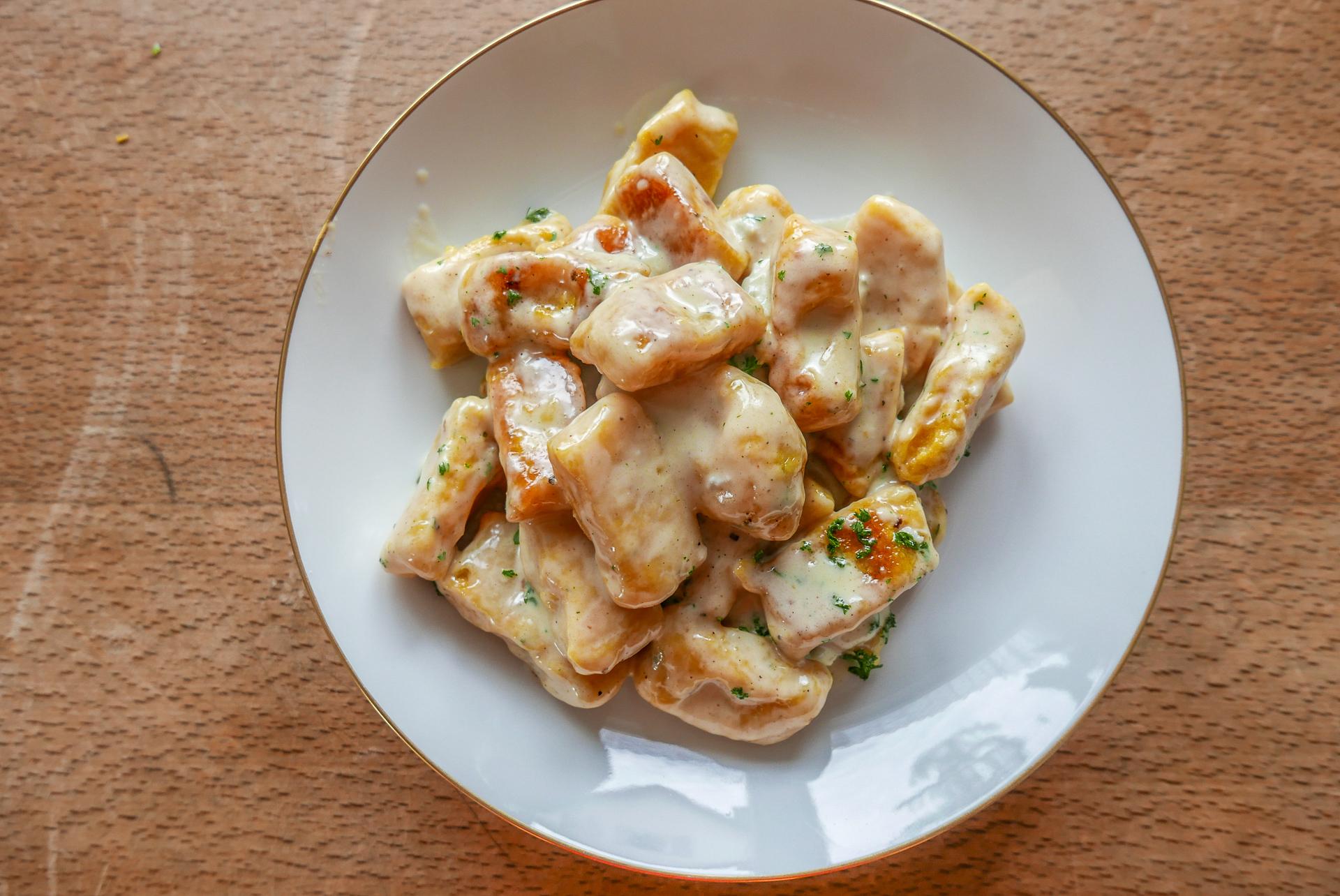 Kürbis-Gnocchi mit verschiedenen Saucen