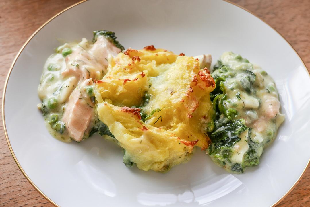 Fish Pie ist ein englischer Klassiker mit sagenhaftem Fisch-Aroma.
