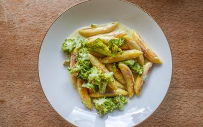 Brokkoli-Schupfnudeln mit Gorgonzola-Sauce