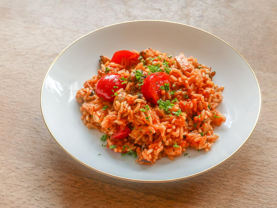 Reis mit Meeresfrüchten: ein Hauch von Meer und Süden.