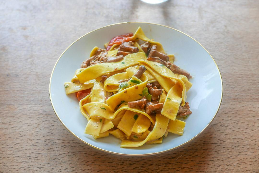 Pasta mit Pfifferlingen: die schnellste und vielleicht schmackhafteste Pfifferlings-Variante.