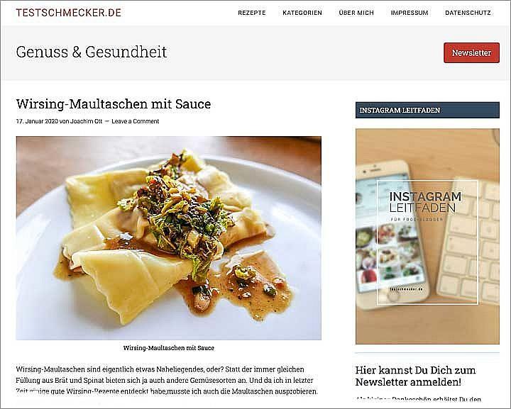 Foodblog-Newsletter brauchen Werbung, damit sie in Gang kommen. Am besten ist es, diesen Service kostenlos auf der eigenen Seite herauszustellen.
