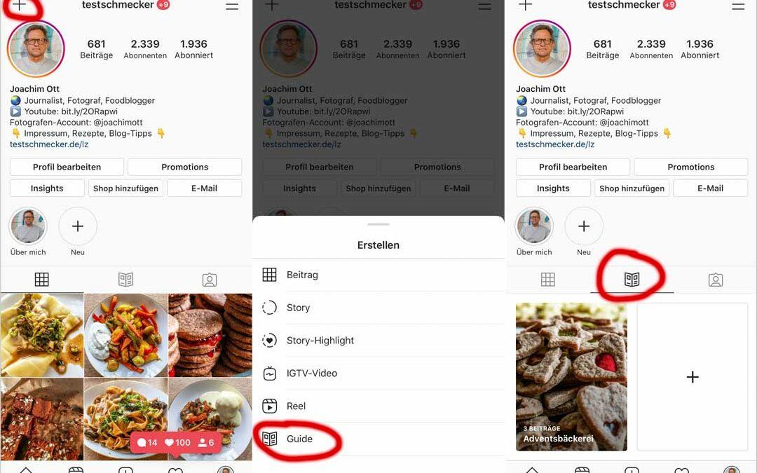 Instagram Guides für Foodblogger